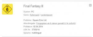 Final Fantasy III sur PC