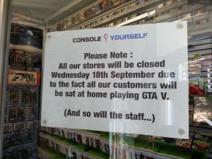 GTA 5 : Un magasin ferme pour que ses employés y jouent !