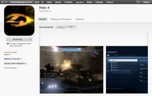 Le Halo 4 de l'App Store