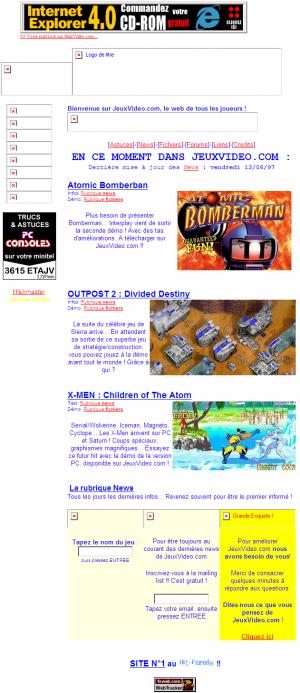 Mars 1997 : Lancement de jeuxvideo.com