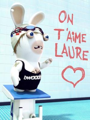 Les Lapins Crétins soutiennent Laure Manaudou