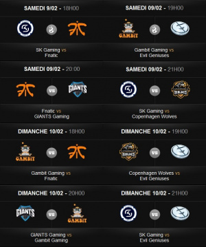 League of Legends Championship Series : Le planning du week-end
