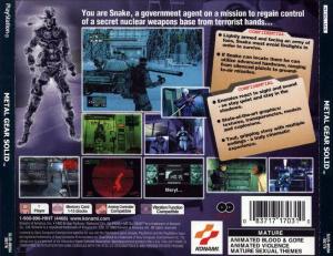 Metal Gear Solid : Ca doit être au dos de cette boîte de CD - Playstation