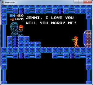 Une demande en mariage dans... Metroid