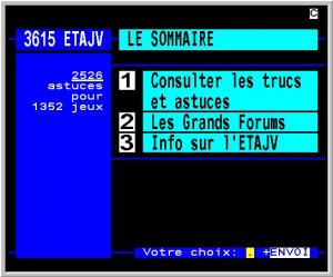 Le 3615 ETAJV et les débuts sur le web