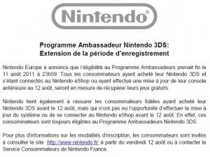 Nintendo prolonge le programme des ambassadeurs