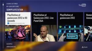 Une application YouTube sur PS3
