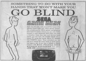 4ème - Campagne de pub Sega / MS-Game Gear-Megadrive (1991)