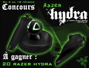 Résultats du concours Razer Hydra
