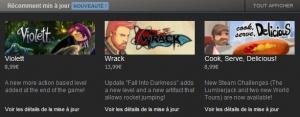 """Steam : Le """"récemment mis à jour"""" débarque !"""