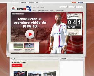 Le site officiel de FIFA 10