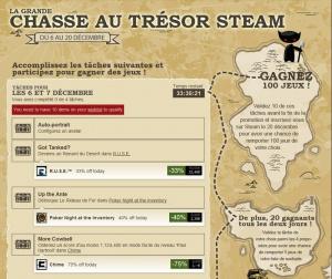 Steam : Chasse au trésor et réductions