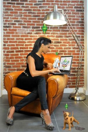 Une Web Série : Shy'm et Warhol pour Les Sims 3