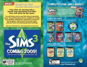 Nouvelle extension pour les Sims 2
