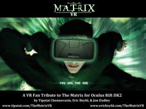 Revivre Matrix en réalité virtuelle