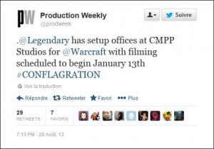 Le film World of Warcraft : début du tournage le 13 janvier 2014