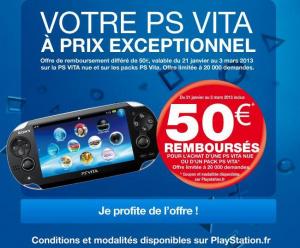 PS Vita: 50 euros remboursés