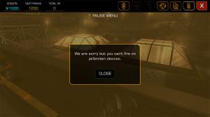 Deus Ex : The Fall ne tire pas sur les appareils jailbreakés
