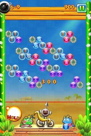 New Puzzle Bobble coince la bulle sur iPhone