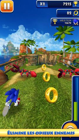 Sonic Dash se met à jour et devient gratuit