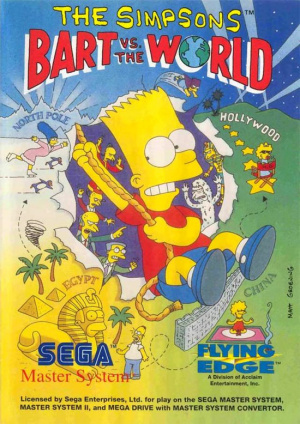 The Simpsons : Bart vs the World sur MS