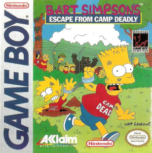 Bart Simpson's Escape from Camp Deadly sur GB