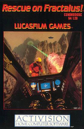 Rescue on Fractalus! sur C64
