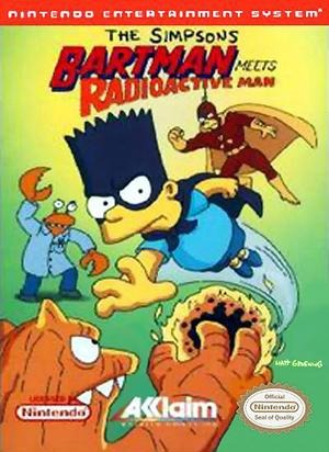 The Simpsons : Bartman Meets Radioactive Man sur Nes