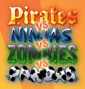 Pirates vs Ninjas vs Zombies vs Pandas sur iOS