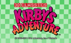 Kirby's Adventure sur 3DS