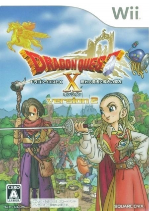 Dragon Quest X : Nemureru Yûsha to Michibiki no Meiyû Online sur Wii