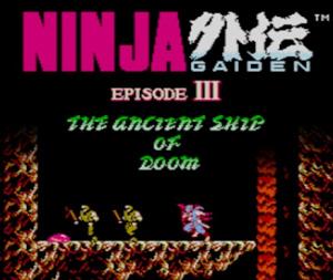 Ninja Gaiden III : The Ancient Ship of Doom sur 3DS