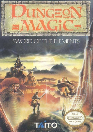 Dungeon Magic sur Nes
