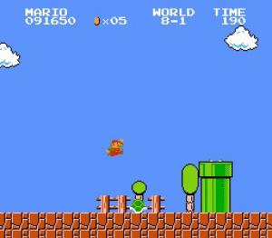 Super Mario Bros. terminé avec 500 points