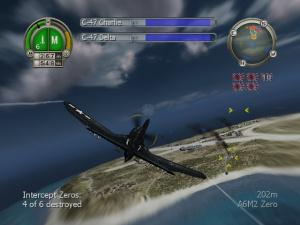 Heroes Of The Pacific vole parmi les nuages