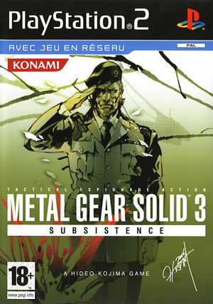 Metal Gear Solid 3 Subsistence sur PS2