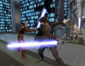La vengeance des siths illustrée sur PS2