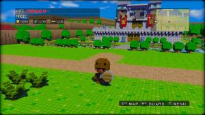 Sackboy jouable dans 3D Dot Game Heroes