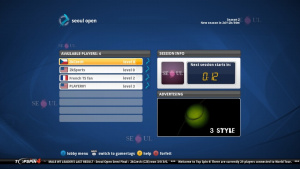 Le mode Circuit Mondial de Top Spin 4