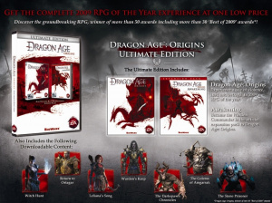 Une nouvelle version collector pour Dragon Age Origins