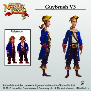 Monkey Island 2 : le nouveau look de Guybrush
