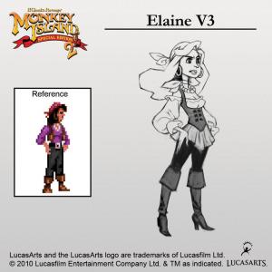 Monkey Island 2 : Elaine relookée