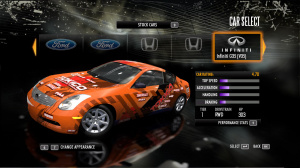 Les voitures de Need for Speed Shift