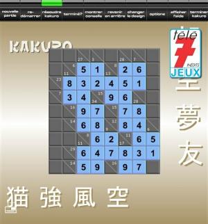 Tele 7 Jeux Kakuro