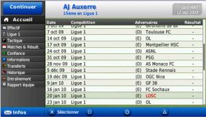 Images de Football Manager 2010 sur PSP