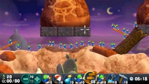 Images : des petits hommes bleus sur PSP