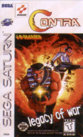 Contra : Legacy Of War sur Saturn