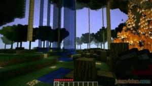 Minecraft - Une ville dans la forêt