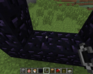 Construire un portail vers le Nether