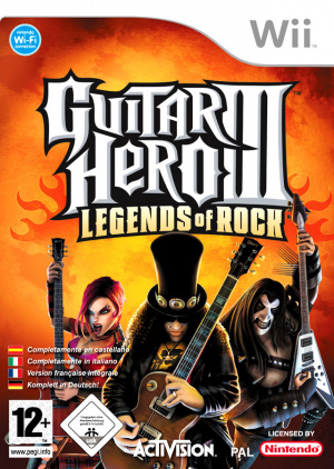 Guitar Hero III : Legends of Rock sur Wii